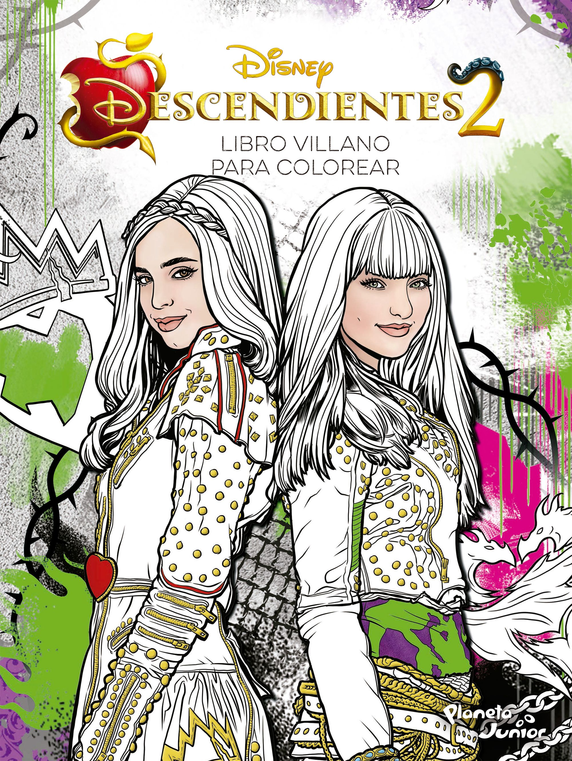 Descendientes 2. Libro villano para colorear  Planeta de ...